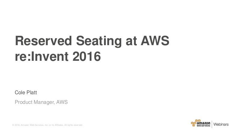 At AWS re:Invent 2016, we've lined up over 450 breakout…